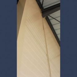Insulating soundproof panels with steel sheet perforated sheet & rockwool - interior coating