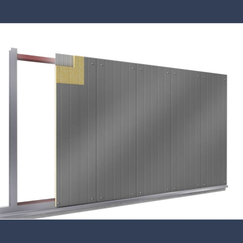 Insulating soundproof panels with steel sheet perforated sheet & rockwool - erection process
