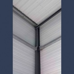 Insulating soundproof & fireproof panels with steel sheets & rockwool