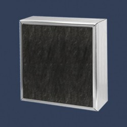 Acoustic baffles with glass cloth