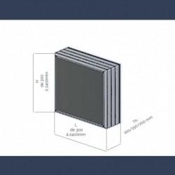 Baffles acoustiques protégées par voile de verre - schéma