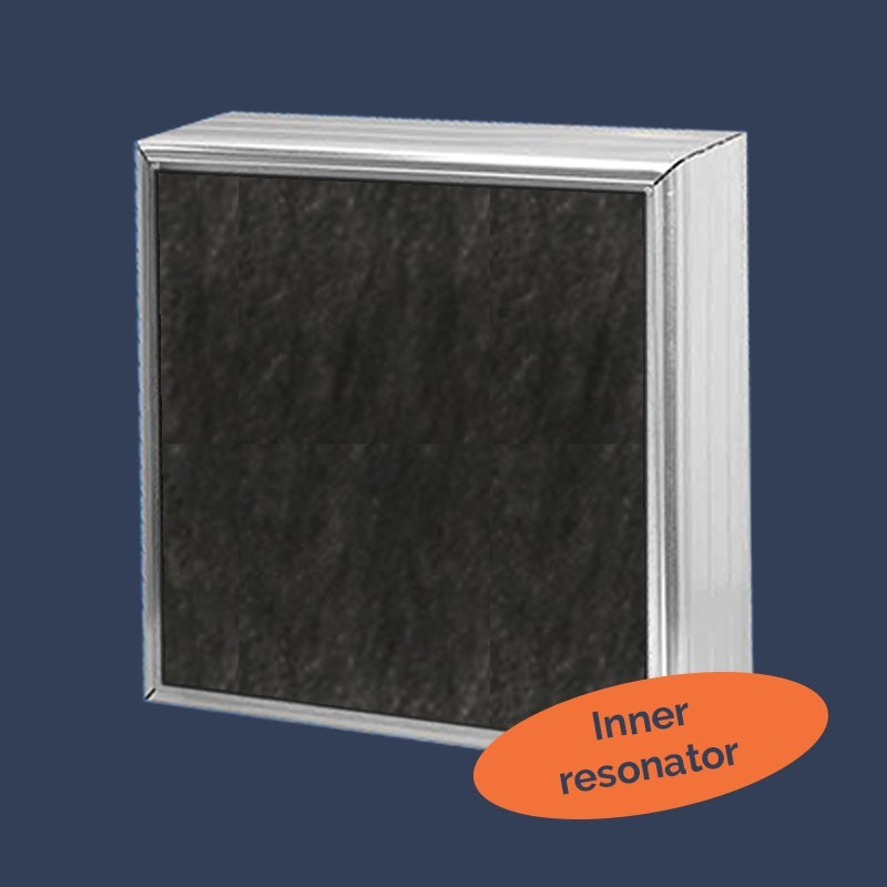 Acoustic baffles with inner resonator