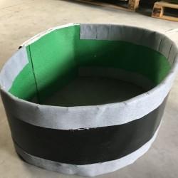Compensateur de dilatation en tissu type courroie pour réseaux de tuyauteries pour fluides gazeux - fabrication