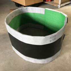 Circular fabric expansion joint belt type for gas flow pipes - manufacturing