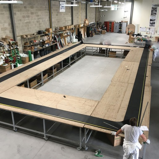 Fabric expansion joint manufacturing in workshop