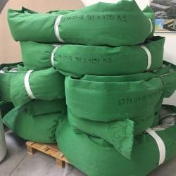 Compensateur de dilatation en tissu avec rembourrage isolant - avant livraison