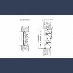Lames filantes acier galvanisé - schéma