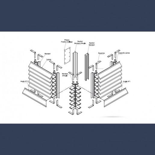 Lames filantes acier galvanisé - détails d'assemblage