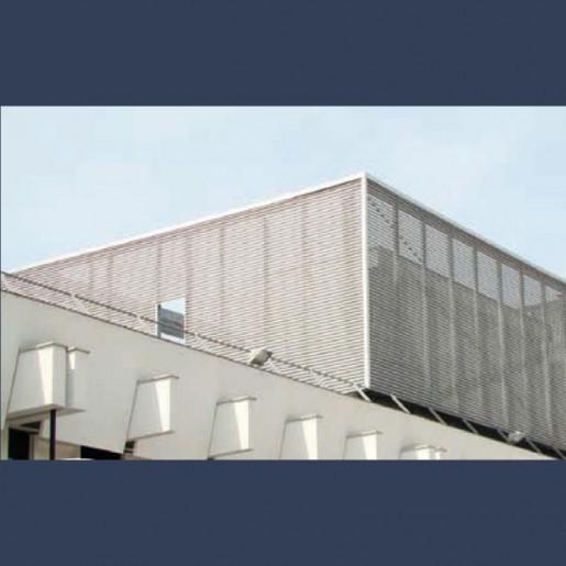 aluminium louvre in situ