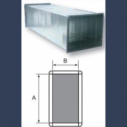 Rectangular straight galvanized duct for ventilation networks