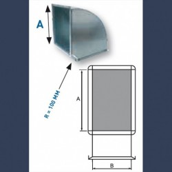 galvanized elbow shape duct 90