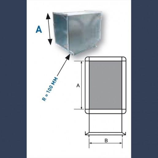 galvanized 3 ways duct
