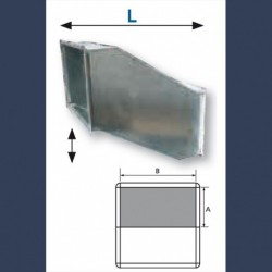 offset galvanized duct