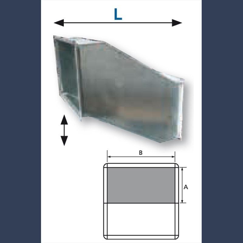Déport acier galvanisé pour réseau de distribution d'air