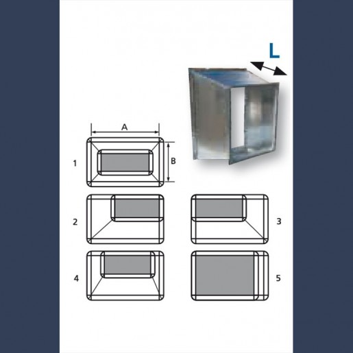 transition galvanized duct