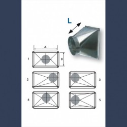 Gaine de transformation acier galvanisé pour réseau de distribution d'air