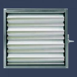 Registre de dosage aluminium pour réseau de distribution d'air