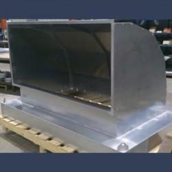 Coude d'entrée d'air acier galvanisé 90 - fabrication