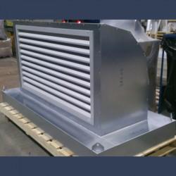 Coude d'entrée d'air acier galvanisé 90 avec grille pare-pluie