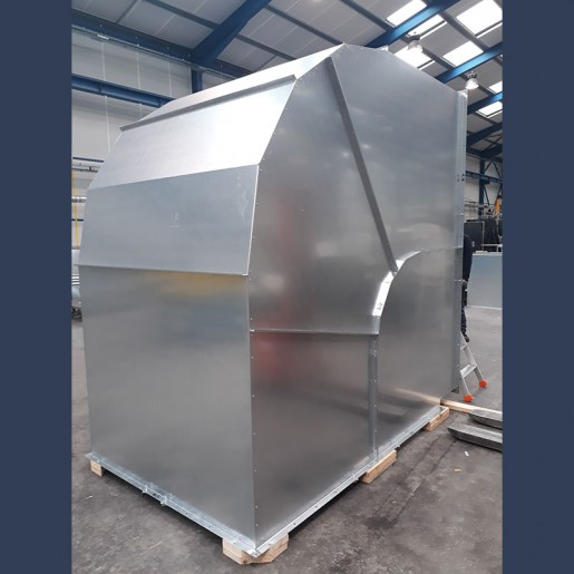 Gaine acier galvanisé coudée - fabrication sur mesure