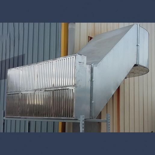 off set duct in situ