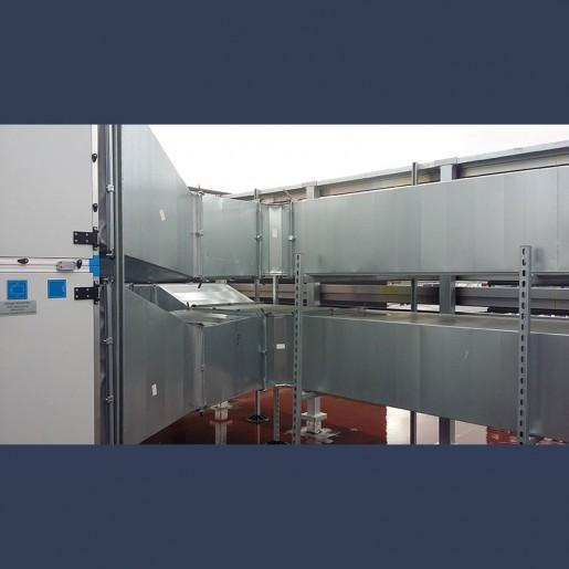 Réseau de gaines de ventilation - en toiture