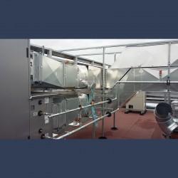 Réseau de gaines de ventilation - in situ