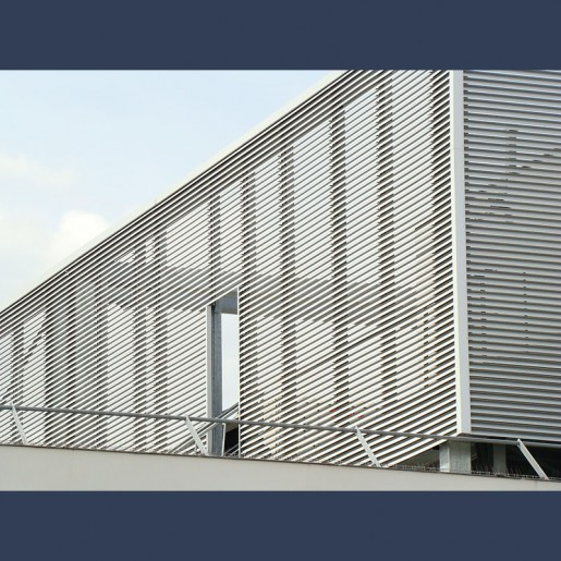 louvers system in situ