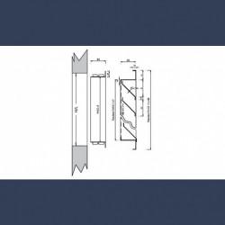 Grille de diffusion d'air galvanisée - schéma