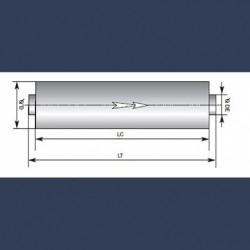 Engine exhaust silencer 25dBA - sketch