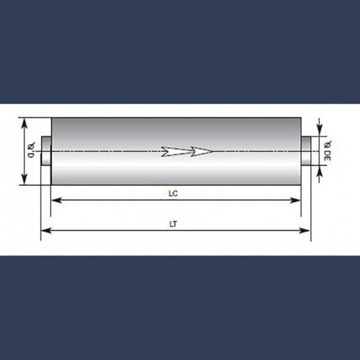 Silencieux cylindrique d'échappement 25dBA - schéma