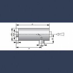 Engine exhaust silencer 30dBA - sketch