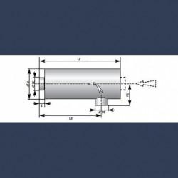 Silencieux cylindrique d'échappement 30dBA -schéma
