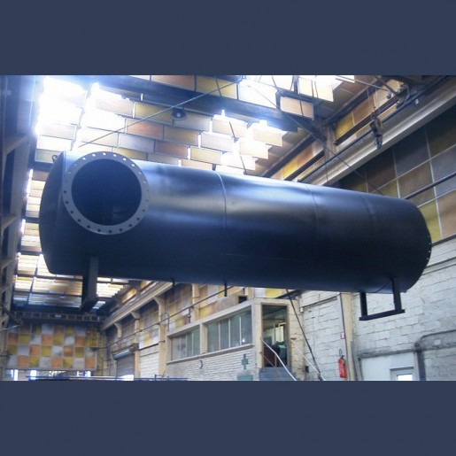 Engine exhaust silencer 40dBA - manufacturing