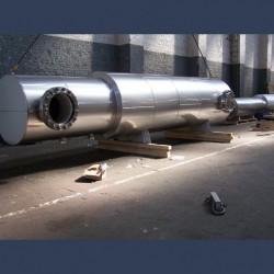 Engine exhaust silencer 50dBA - manufacturing