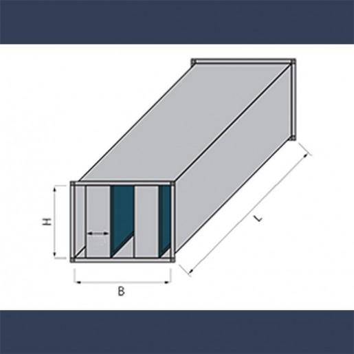 Sound attenuation splitter silencer - sketch