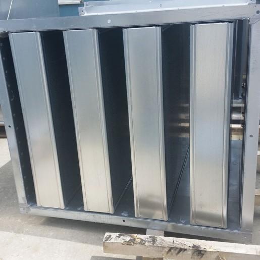 Sound attenuation splitter silencer - manufacturing