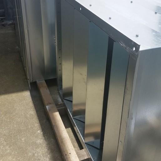 Sound attenuation splitter silencer low pressure drop
