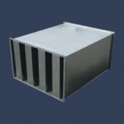 Sound attenuation splitter silencer