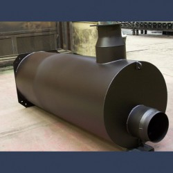 Engine exhaust silencer  for genset container 40dBA - manufacturing