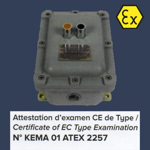 Axial fan Aeib HDO type  ATEX switch box