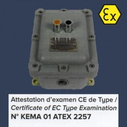 Axial fan Aeib HD1S type ATEX switch box