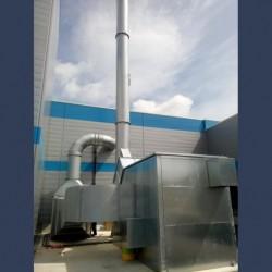 Capotage acoustique pour ventilateur - avant gauche