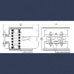 Boite précontrainte à  quadruple ressort antivibratile