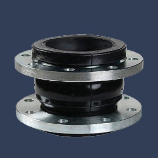 Rubber expansion joint one sphere with metal flanges
