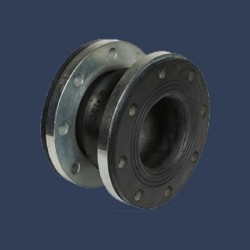 Rubber expansion joint full integrated rubber flange