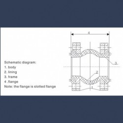 Rubber expansion joint full integrated rubber flanges - sketch