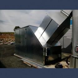 acoustic enclosure inlet side