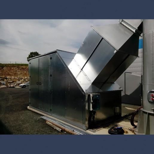 Capotage acoustique pour ventilateur - côté entrée d'air
