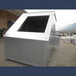 Acoustic enclosure door side